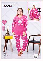 Пижама женская большого размера cердечки, фото 1