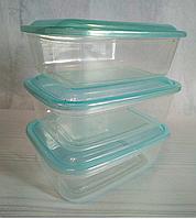 Набор контейнеров пищевых 3шт, 15*11*4 см, 500 мл.