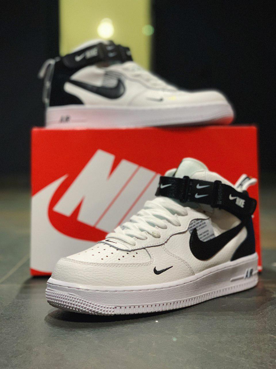 Кроссовки высокие натуральная кожа Nike Air Force Найк Аир Форс (,43,45.)