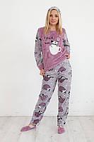 Красивая махровая пижама женская Турция wellsoft