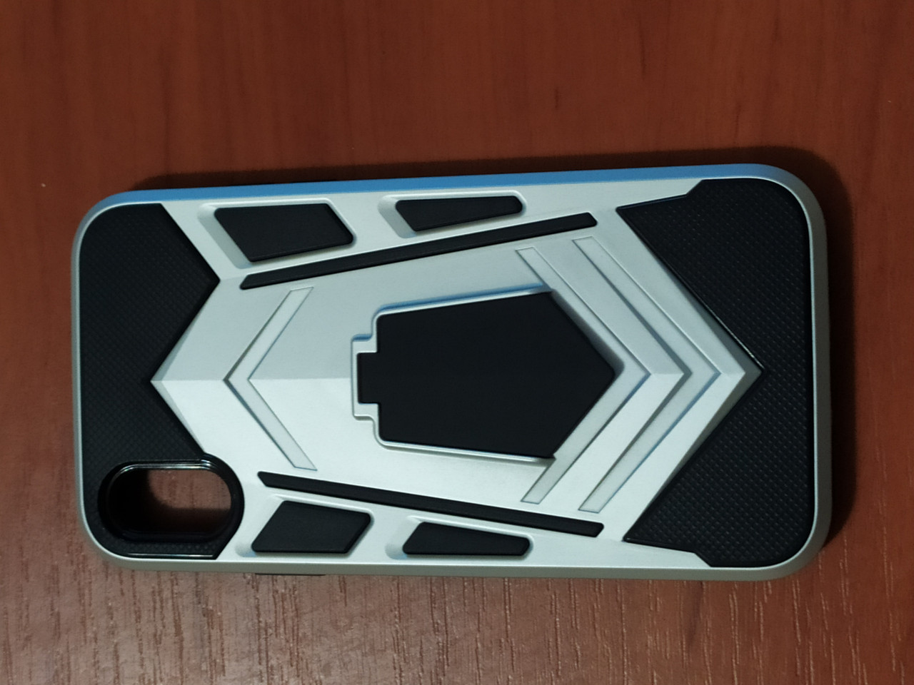 Накладка  Armor Case  iPhone X / XS 5.8  с подставкой  (серебро)