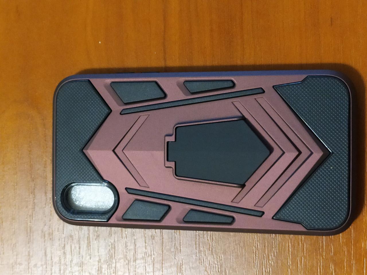Накладка  Armor Case  iPhone X / XS 5.8  с подставкой  (бордовый)
