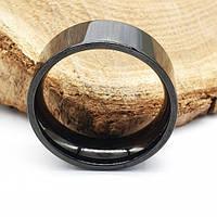Черное кольцо из медицинской стали американка 8 мм под гравировку 176315, фото 1