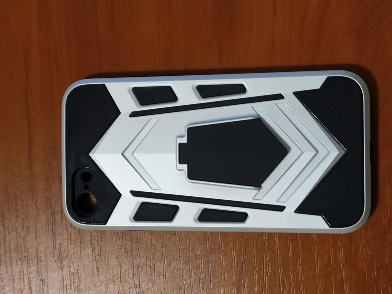 Накладка  Armor Case  iPhone 7 / 8 / SE 2020  с подставкой  (серебро)