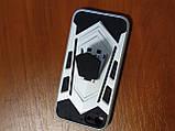 Накладка  Armor Case  iPhone 7 / 8 / SE 2020  с подставкой  (серебро), фото 2