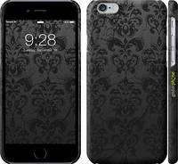"""Чехол на iPhone 6 узор черный """"1612c-45"""""""