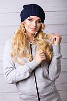 В'язана молодіжна шапка Yana, темно-синій