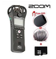 Диктофон цифровой/рекордер Zoom H1n Black + Ветрозащита + Карта памяти 16 Гб