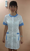 Медицинский женский халат Фантазия хлопок короткий рукав, фото 1