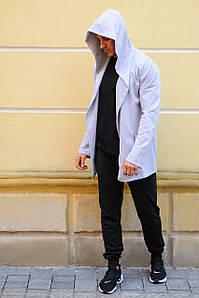 Комплект мантія з капюшоном і спортивні штани чоловічий WB розмір S сіро-чорний