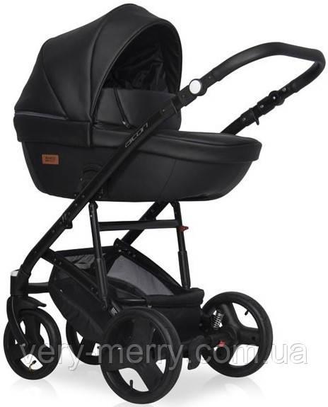 Детская универсальная коляска 2 в 1 Riko Basic Aicon Ecco (черный цвет)