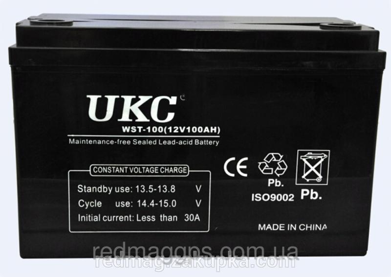 Аккумуляторная батарея UKC 100A 12В, аккумулятор УКС 100А