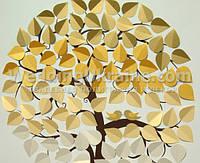 Дерево с эффектом золотого омбре
