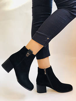 Женские осенние ботинки. На среднем каблуке. Натуральный замш.Высокое качество.Nadi Bella Р. 35-40.Vellena