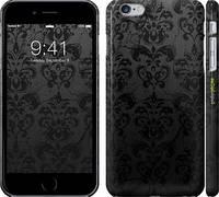 """Чехол на iPhone 6 Plus узор черный """"1612c-48"""""""