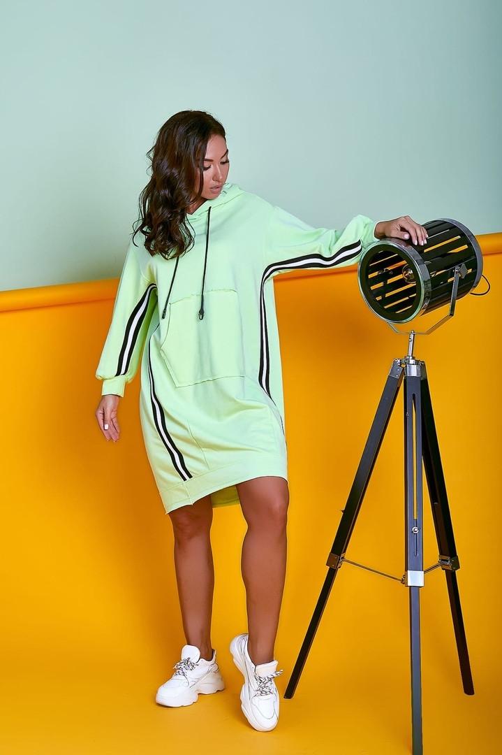 Женское трикотажное свободное платье в спортивном стиле .Размеры:44/46,48/50,52/54. + Цвета