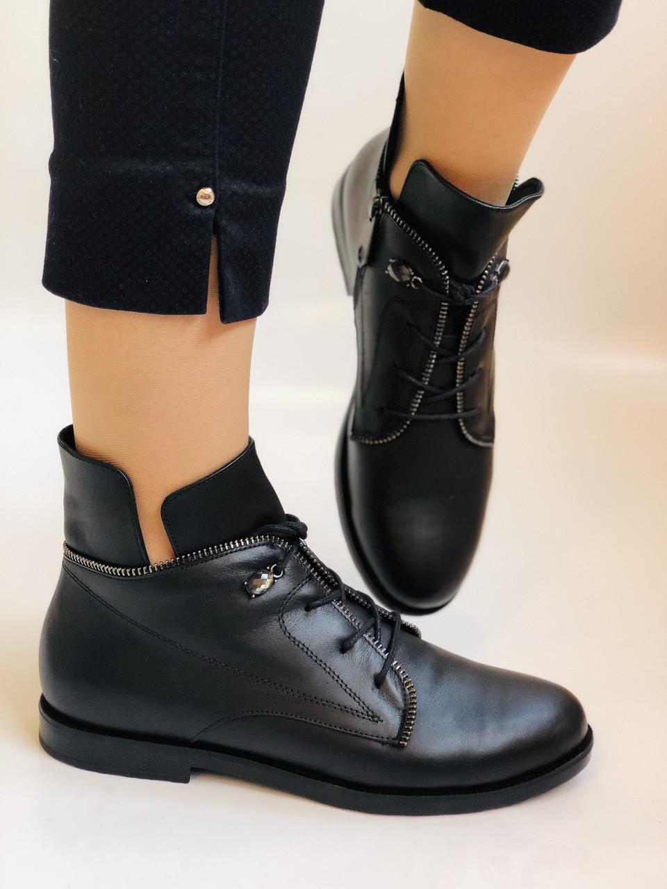 Alpino. Жіночі осінні черевики. На низькому каблуці. Натуральна шкіра.Alpino. Р. 37 -38 .Vellena