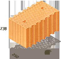 Керамический блок Теплокерам 38 (Керамейя) 2К, фото 1