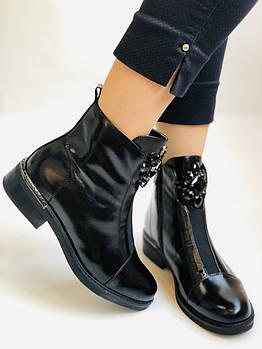 Женские осенние ботинки. На среднем каблуке. Натуральная кожа.Stalo Totti Р. 35, 36, 37. 38.Vellena
