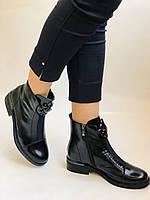 Жіночі осінні черевики. На середньому каблуці. Натуральна шкіра.Stalo Totti Р. 35, 36, 37. 38.Vellena, фото 2