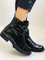 Жіночі осінні черевики. На середньому каблуці. Натуральна шкіра.Stalo Totti Р. 35, 36, 37. 38.Vellena, фото 4