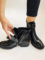 Жіночі осінні черевики. На середньому каблуці. Натуральна шкіра.Stalo Totti Р. 35, 36, 37. 38.Vellena, фото 8
