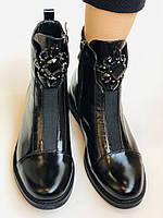 Жіночі осінні черевики. На середньому каблуці. Натуральна шкіра.Stalo Totti Р. 35, 36, 37. 38.Vellena, фото 10