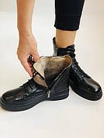 Жіночі черевики. На середній танкетці. Натуральна шкіра. Висока якість. 24pfm Р. 37, 39,40, фото 6