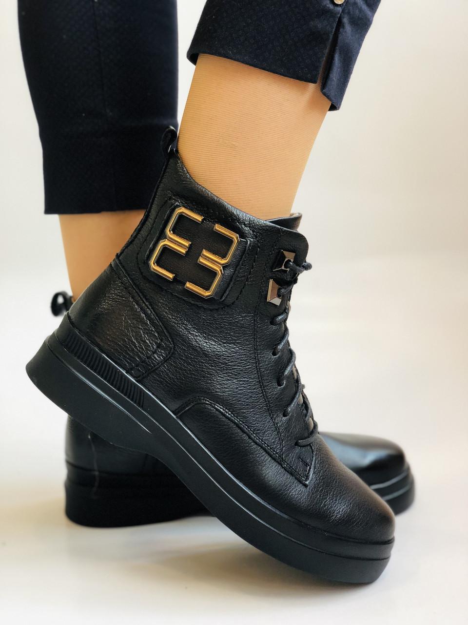 Жіночі черевики. На середній танкетці. Натуральна шкіра. Висока якість. 24pfm Р. 37, 39,40