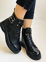 Жіночі черевики. На середній танкетці. Натуральна шкіра. Висока якість. 24pfm Р. 37, 39,40, фото 5