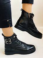 Жіночі черевики. На середній танкетці. Натуральна шкіра. Висока якість. 24pfm Р. 37, 39,40, фото 9
