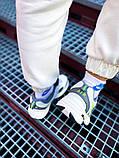Мужские кроссовки в стиле Nike Air Monarch (white/green), Найк Аир Монарх (Реплика ААА), фото 4