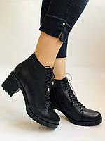 Женские осенние ботинки. На среднем каблуке. Натуральная кожа.Турция.Высокое качество.Dalmax Р. 36 38.40, фото 3