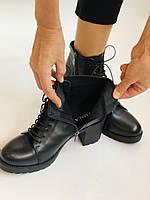 Женские осенние ботинки. На среднем каблуке. Натуральная кожа.Турция.Высокое качество.Dalmax Р. 36 38.40, фото 5