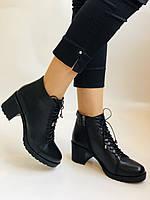 Женские осенние ботинки. На среднем каблуке. Натуральная кожа.Турция.Высокое качество.Dalmax Р. 36 38.40, фото 2