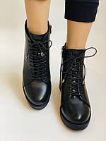 Женские осенние ботинки. На среднем каблуке. Натуральная кожа.Турция.Высокое качество.Dalmax Р. 36 38.40, фото 7
