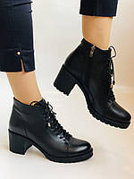 Женские осенние ботинки. На среднем каблуке. Натуральная кожа.Турция.Высокое качество.Dalmax Р. 36 38.40, фото 9