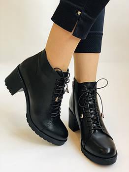 Женские осенние ботинки. На среднем каблуке. Натуральная кожа.Турция.Высокое качество.Dalmax Р. 36 38.40