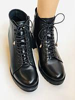 Женские осенние ботинки. На среднем каблуке. Натуральная кожа.Турция.Высокое качество.Dalmax Р. 36 38.40, фото 8