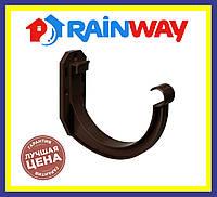 Держатель жолоба Rainway 130 коричневый,пластмасовый кронштейн желоба рейнвей.Водосточная система Rainway