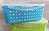 Набор пластиковых контейнеров для продуктов 4 шт (0.6 л., 1 л., 1,6 л., 2.5 л.), фото 3