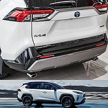 Пластикова захисна накладка на задній бампер для Toyota RAV-4 2018+