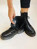 Dr.Martens. Зимние ботинки натуральная кожа. Высокое качество. Размер 36 37 38 39 40, фото 9