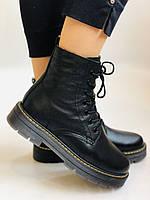 Dr.Martens. Зимние ботинки натуральная кожа. Высокое качество. Размер 36 37 38 39 40, фото 5