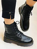 Dr.Martens. Зимние ботинки натуральная кожа. Высокое качество. Размер 36 37 38 39 40, фото 8