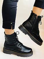 Dr.Martens. Зимние ботинки натуральная кожа. Высокое качество. Размер 36 37 38 39 40, фото 4