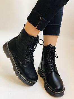 Dr.Martens. Зимние ботинки натуральная кожа. Высокое качество. Размер 36 37 38 39 40