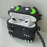 Чохол силіконовий для бездротових навушників Apple AirPods Pro Беззубик, Чорний, фото 2