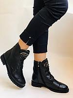 Зимові черевики на натуральному хутрі на низькій підошві з натуральної шкіри. Stalo Totti Р. 36, 38, фото 3