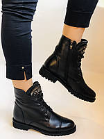 Зимові черевики на натуральному хутрі на низькій підошві з натуральної шкіри. Stalo Totti Р. 36, 38, фото 8